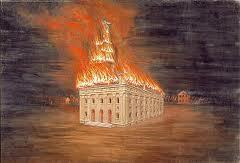 nauvoo temple on fire