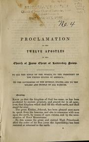 proclamation of the twelve